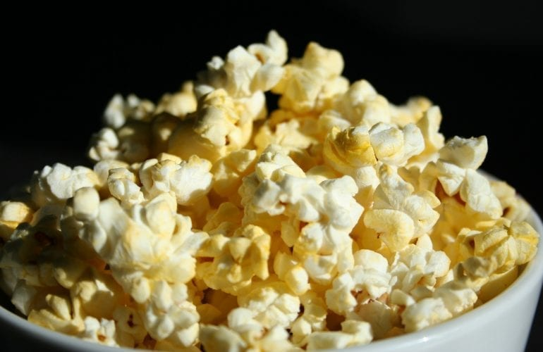 Popcorn for our movie night room package