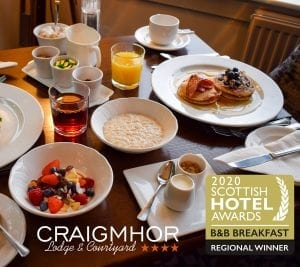 Regional Award for Best B&B Breakfast at the 2020 Scottish Hotel Awards